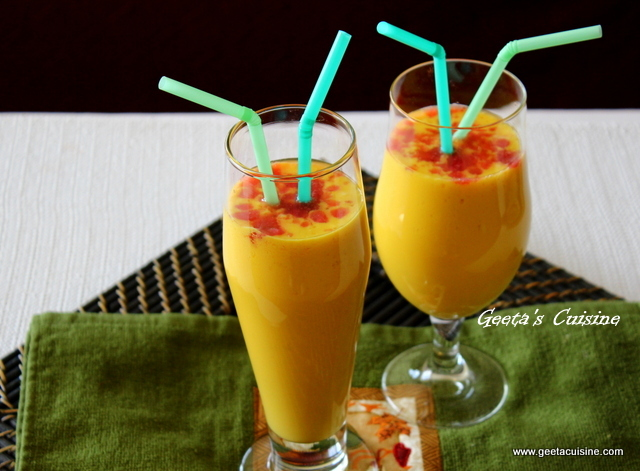 how to make a mango lassi drink