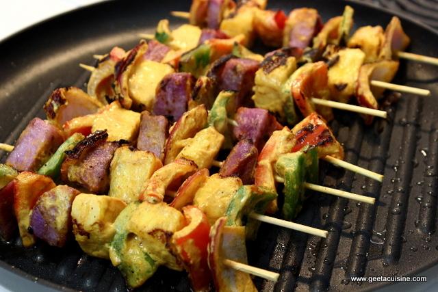 Purple yam pineapple shashlik geeta 39 s cuisine for Canape yam but