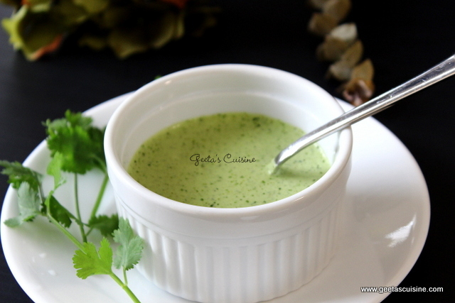 Mint Yogurt Dip Recipe | Geeta's Cuisine